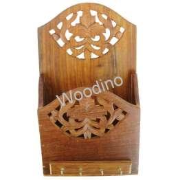 Woodino Wooden Chhilayi Wall Latter Rack