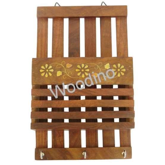 Woodino Strip Brass Work Wall Latter Rack