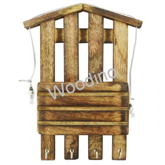 Woodino Mango Wood Wall Latter Rack