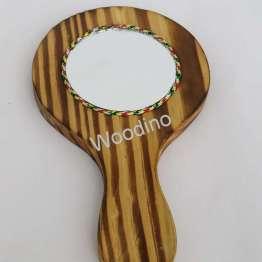 Woodino Mango Wood Small Hand Mirror
