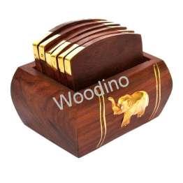 Woodino Premiium Quality Simple Look Elephant Coaster