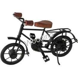 Woodino Wrought Iron & Mango Wood Small Cycle 10x7 Inch