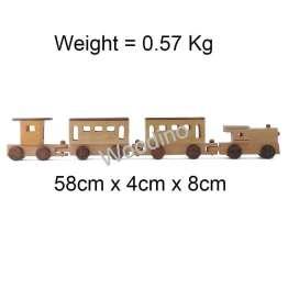 Woodino Haldu Wood 3 Compartment Train Model Toy