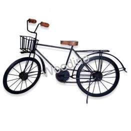 Woodino Wrought Iron & Wooden Large Cycle 18x10 Inch