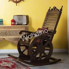 Woodino Sheesham Wood Premium Rocking Chair