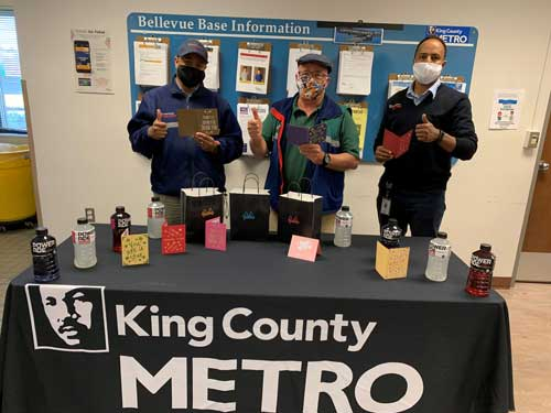 King County Metro employees give thumbs-up to their thank you items