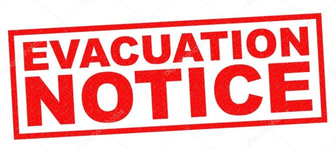 Evacuation Notive for Sept 11, 2018