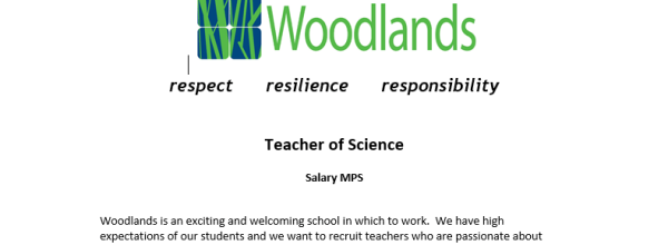 Teacher of Science Vacancy