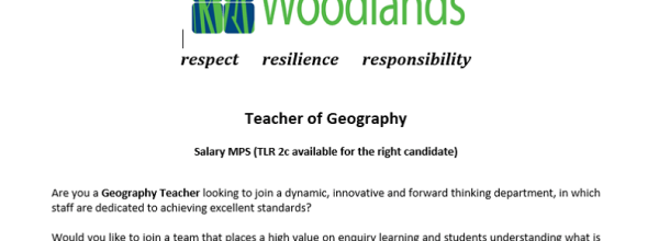 Geography Teacher Vacancy