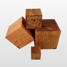 blocs en bois tabouret en bois
