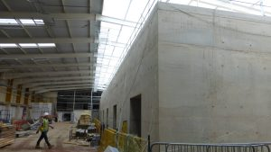Linac Facility Concrete Construction