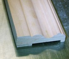 More of Ed's trim, made on his Woodmaster Molder/Planer -- cherry molding.
