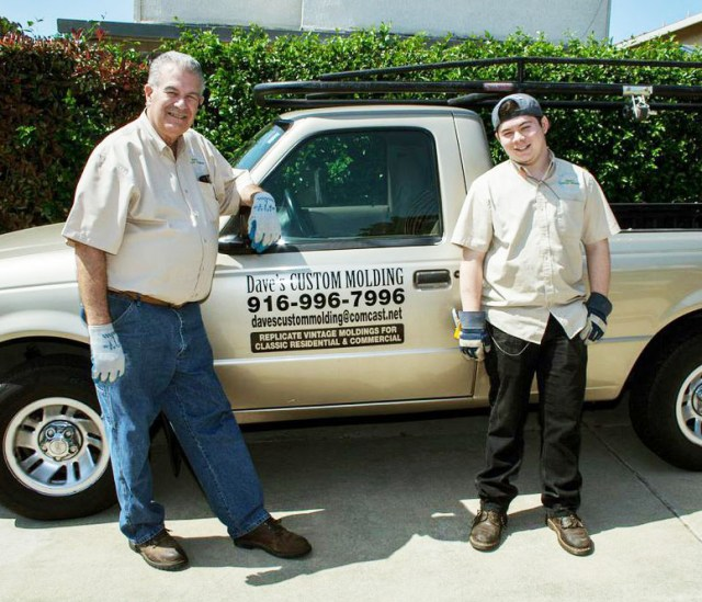 Dave, Colby, and the company truck. Note how Dave turned his truck into a mobile advertisement for his business. It gives his company name, his phone number, web address, and tells precisely what he does! Pretty clever, Dave.