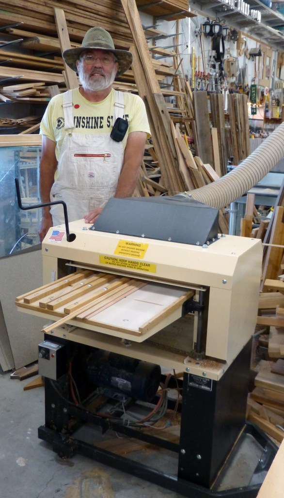 A busy shop means a happy woodworker. Here's Dale with one of his 3 Woodmaster Molder/Planers. He got his first one in the early 1990's and has been adding on ever since!