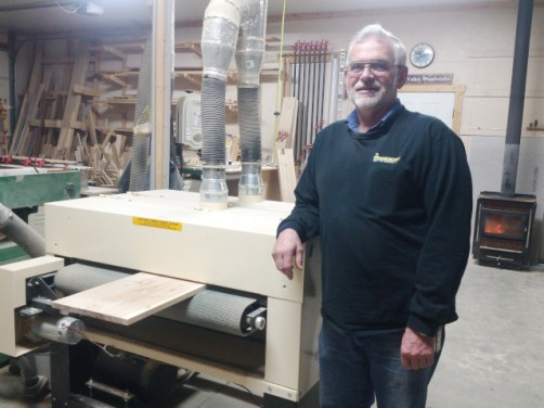 Edson Miller owns a Woodmaster Drum Sander, too. But that's another story, and another post on the Woodmaster Drum Sander Blog!