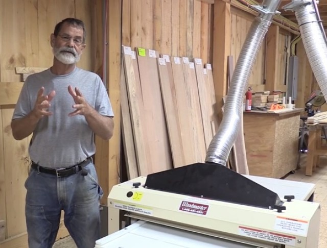 Bob set up an integrated, value-added wood business with Woodmaster and TimberKing equipment. Here's Bob with his Woodmaster 725 Molder Planer.
