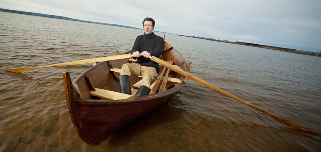 "Josh says, ""Nothing is as satisfying as building a boat then taking it out on the water."""