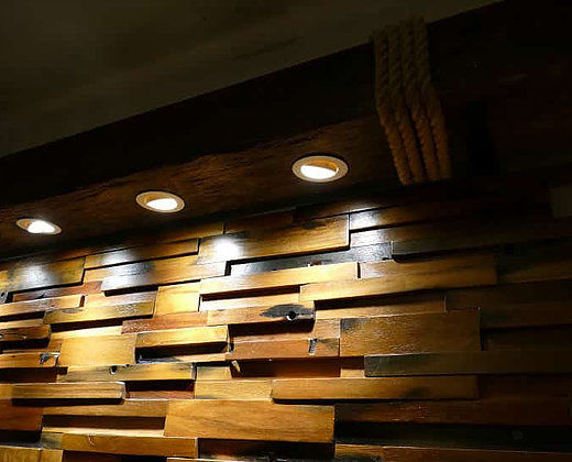 Faux Wood Beam Recessed Spot Lights Wood Beam Lighting