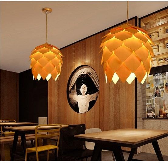 ontemporary pendant light, pinecone shape pendant light, pinecone pendant light