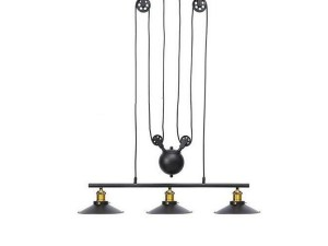 Industrial Style Pendant Lights, 3 Metal Suspended Lights