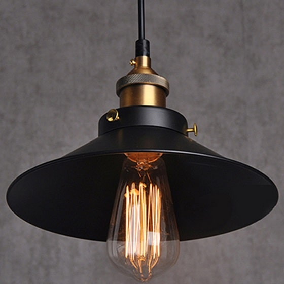 Vintage metal Light, filament pendant lamp, industrial filament lamp, pendant lamp, pendant light