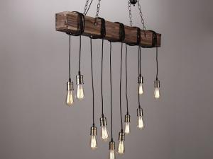 chandelier, wooden chandelier, rustic chandelier, rustic wood chandelier, wood beam pendant light, wood beam suspended lights, wood beam ceiling lights, oak beam lights; hanging beam light