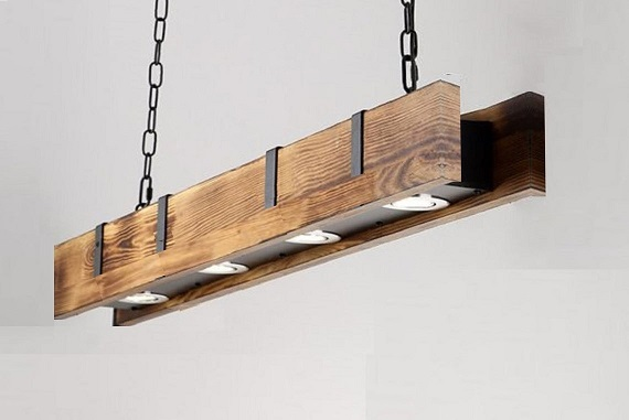 industrial style wood Lights
