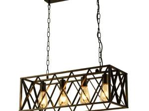 metal box light, suspended box light, pendant light