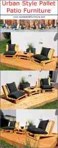 Urban Style Pallet Patio Furniture Wood Pallet Furniture