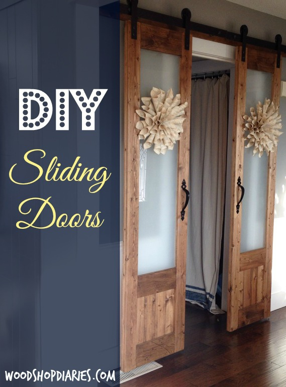 Amazing How To Build Sliding French Doors With Glass Panels AND Your Own Hardware  For About $100