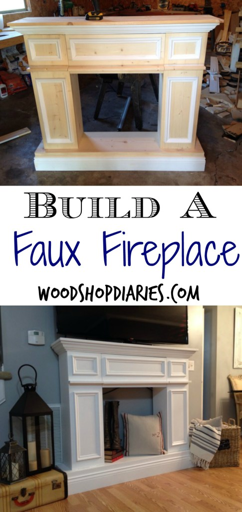 Fake it til you make it the making of a faux fireplace build your own faux fireplace with hidden storage diy fake fireplace woodshop solutioingenieria Image collections