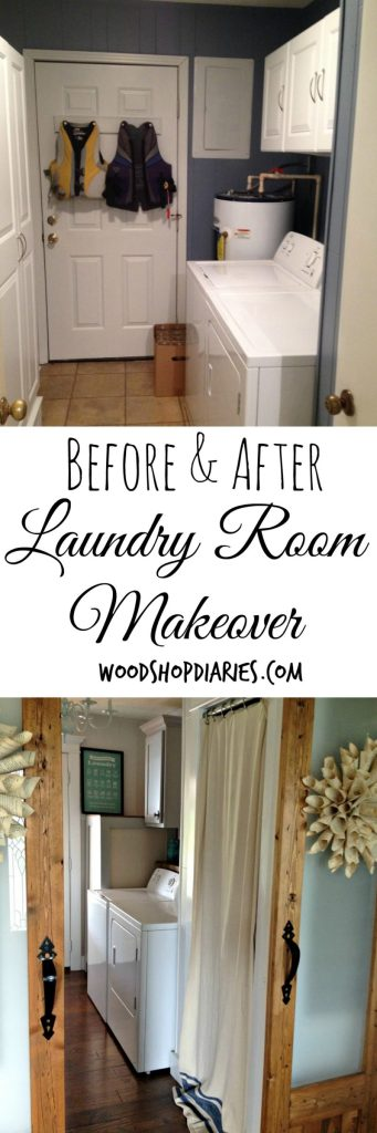 Laundry Room Makeover on a Budget--How my laundry room became my favorite room in the house--Woodshop Diaries