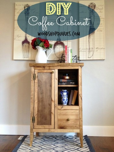 DIY Coffee Cabinet