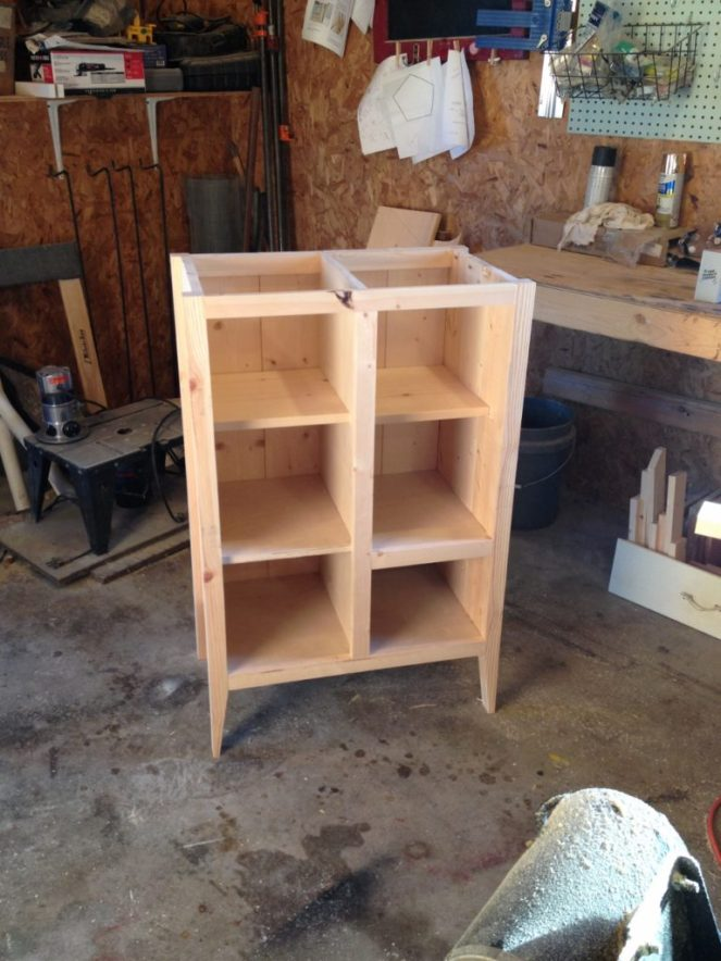 coffee cabinet shelves added