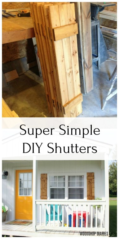 These super simple DIY shutters are such a quick and easy project, but will add so much character to your windows!  You've got to check these out!
