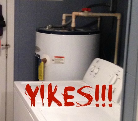 yikes before--ugly water heater
