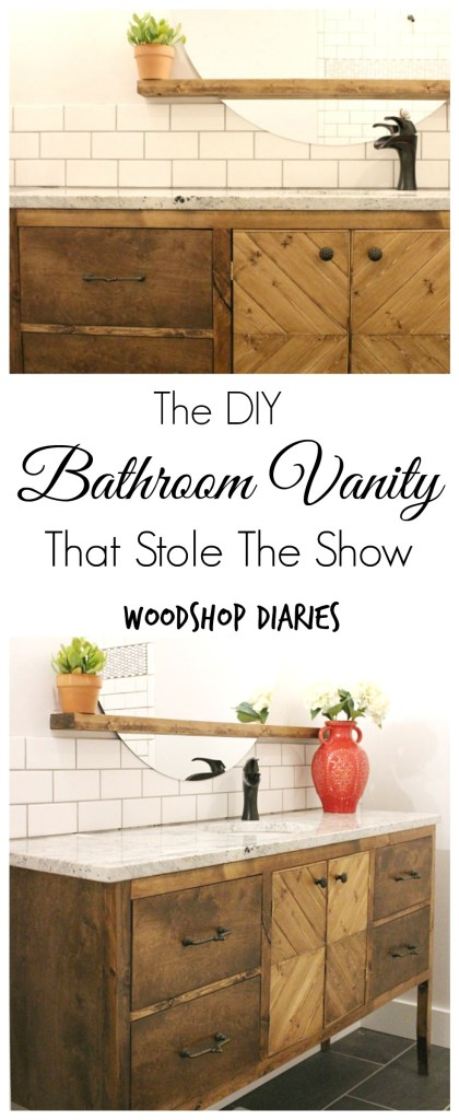 How to build a gorgeous bathroom vanity that will command the spotlight--Woodshop Diaries