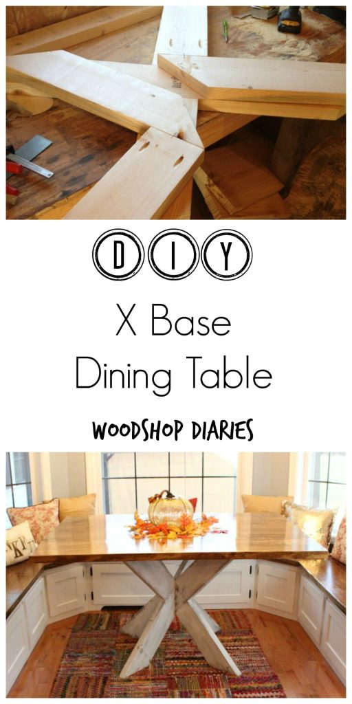DIY X Base Dining Table