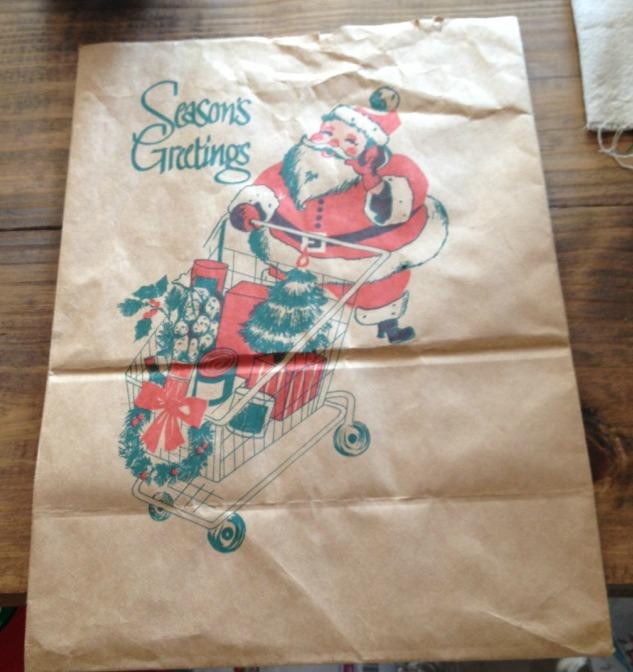 Paper Sack Christmas Art and DIY Frame