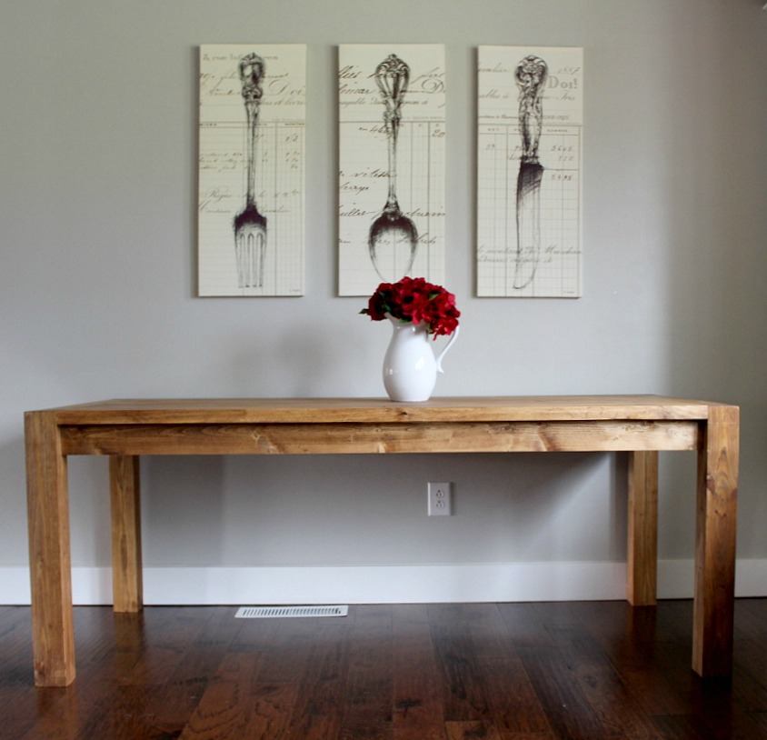 Build Dining Room Table: How To Build A Modern Farmhouse Dining Table