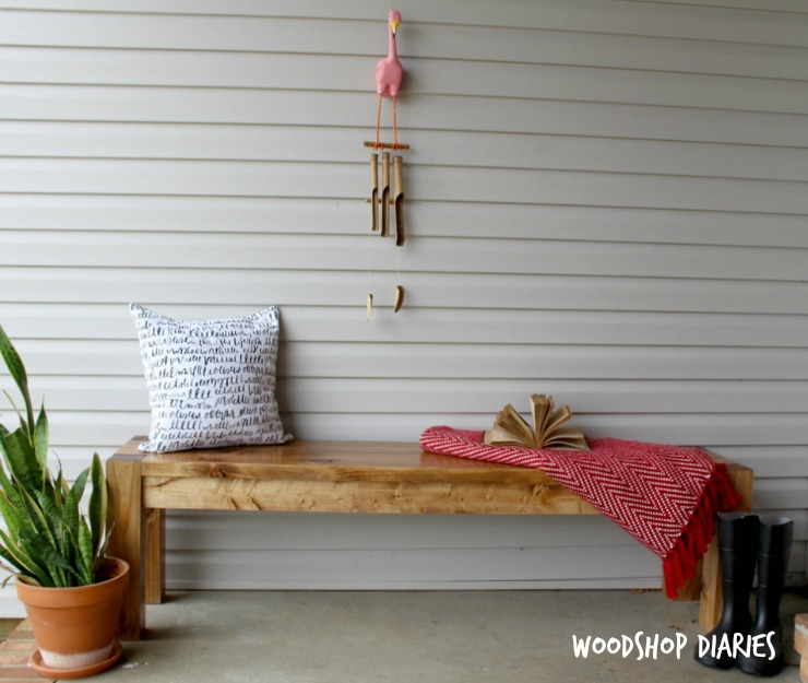 How to Build a DIY Modern Farmhouse Dining Bench