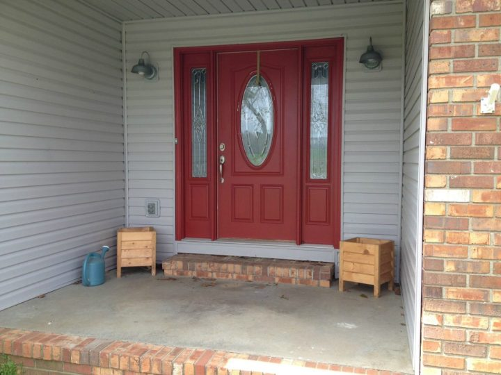 Spring Front Door Refresh--Before