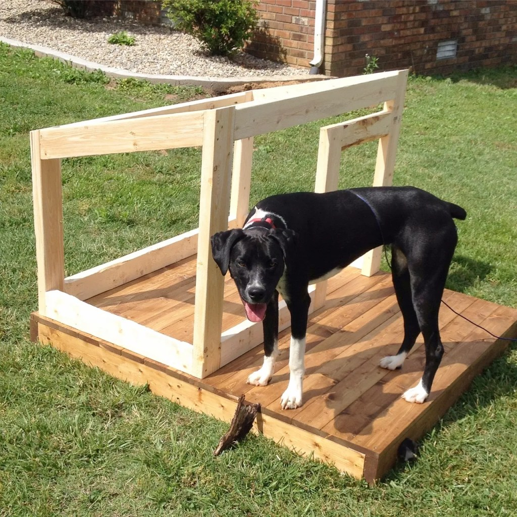 DIY Dog House with Deck
