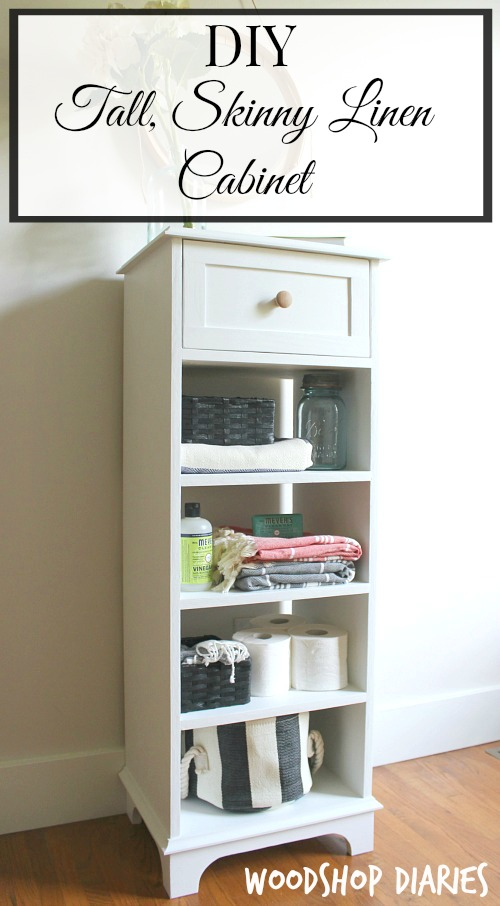 How to Build a DIY Tall Skinny Storage Cabinet