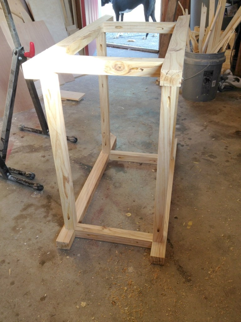 Assemble cart frame using pocket holes and screws