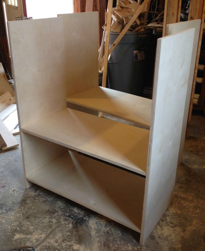DIY storage console cabinet carcass boxes