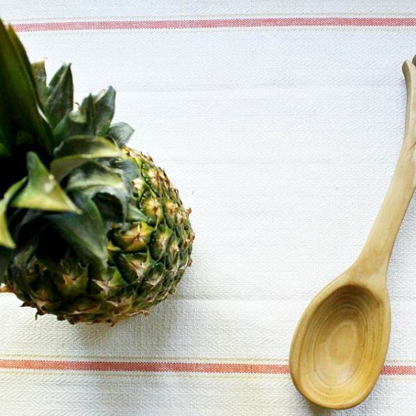 How to carve a wooden pineapple spoon