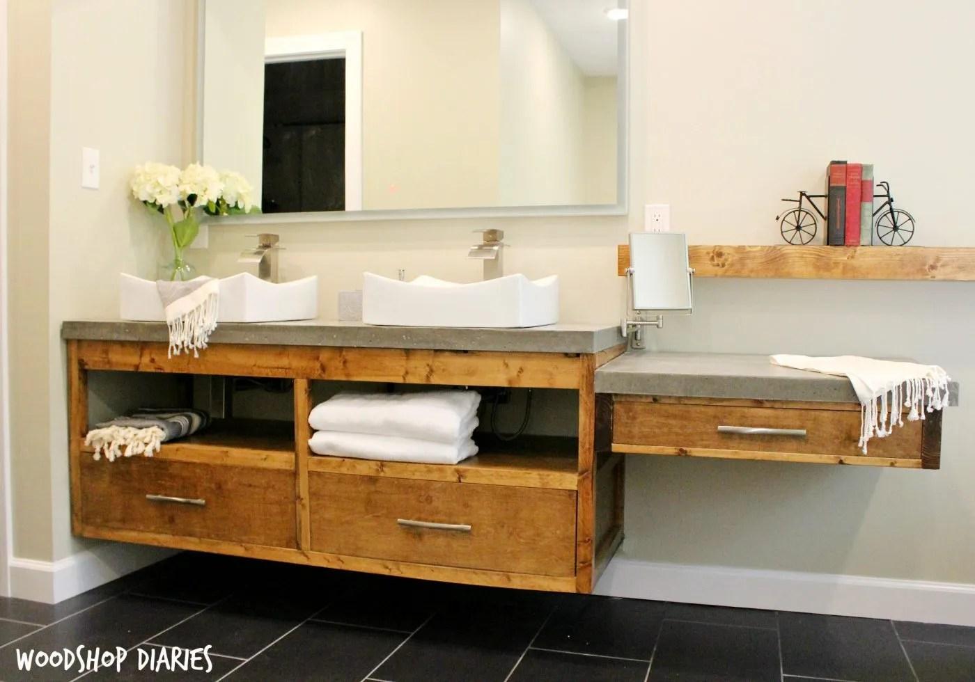 Diy Floating Bathroom Vanity How To Build A Diy Modern Floating Vanity Or Tv Console
