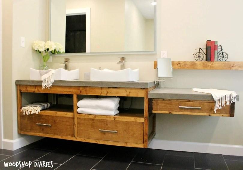 36 inch floating bathroom vanity free building plans modern plenty storage cabinet ideas