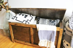 DIY Storage Chest perfect for blanket storage